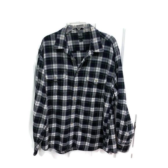 J. Crew green flannel shirt 100% cotton XL